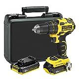 STANLEY FATMAX FMC607D2-QW - Taladro atornillador Brushless 18V con 2 baterías de litio 2.0Ah y...