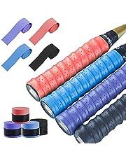 LATTCURE 8 bandas de agarre para raquetas de bádminton y bádminton de poliuretano, antideslizantes, para squash, tenis, bádminton, etc.