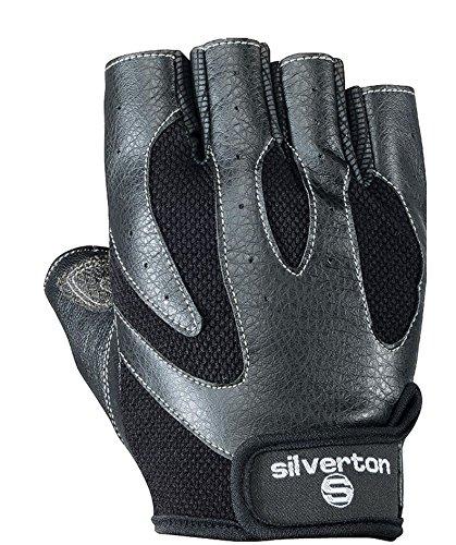 Silverton Erwachsene Fitnesshandschuhe Matrix Handschuhe, schwarz, L