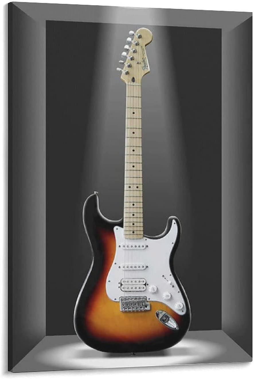 shujian Un clásico en una caja de guitarra, póster decorativo de lienzo para pared, para sala de estar, dormitorio, 60 x 90 cm