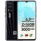 iHunt S20 Plus Apex 2021 | Dual Sim | Desbloqueado de fábrica | 6.3' Waterdrop IPS | 16+2GB | 3000mAh | Android 9 | Negro