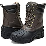 ALEADER Waterproof Snow Boots for Men Insulated Cold Weather Winter Boots Warm Taupe PU/01 11 US