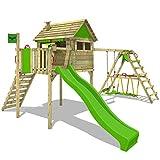 FATMOOSE Spielhaus auf Stelzen FunFactory Fit XXL Spielturm Kletterturm mit Surfanbau, Veranda,...