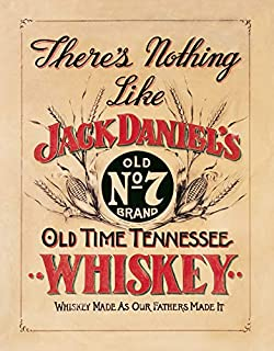 "Desperate Enterprises There's Nothing Like Jack Daniel's Whiskey Tin Sign, 12.5"" W x 16"" H"