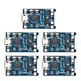 KKmoon Módulo de carga 5 unids 5 V 1A Micro USB 18650 Batería de Litio de Carga + Módulo de Cargador de Circuito de Protección módulo
