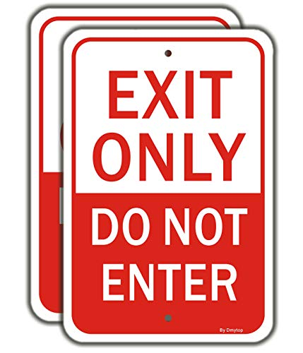 """Exit Only Sign, Do Not Enter Sign 