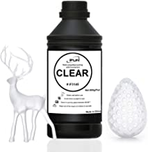 IFUN 3D Resin Clear for Laser SLA Printer Compatible with Formlabs Peopoly Moai DWS 405nm Rapid UV Cure 3D Print Resin Liquid 500ml