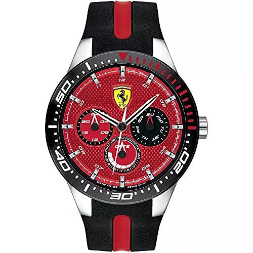 Scuderia Ferrari Orologio Multi-quadrante Quarzo Uomo con Cinturino in Silicone 830588