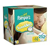 Pampers Swaddlers Diapers Economy Pack Plus Size 1-2, 252 Count