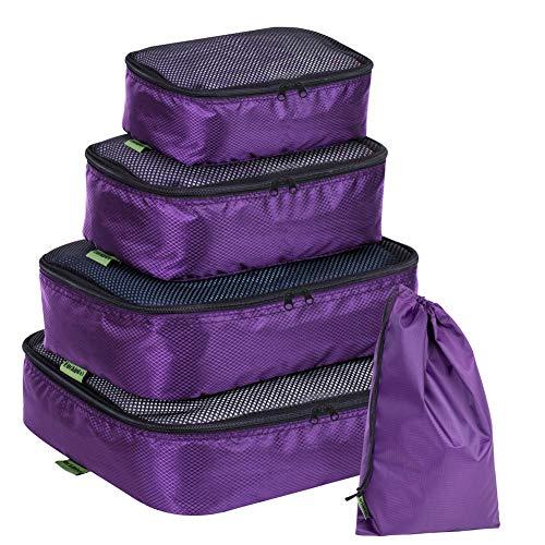 Luckiplus Packwürfel 3/5/6 Stück Reise-Kompressionspackung Packen Organizer Set Multifunktions Sortierpakete