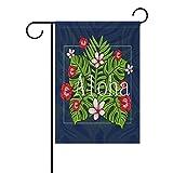 Aloha Hawaii lianchenyi mit tropischen Blumen doppelseitig Familie Flagge Polyester Outdoor Flagge Home Party Decro Garten Flagge 30,5x 45,7cm, Polyester, multi, 12x18(in)