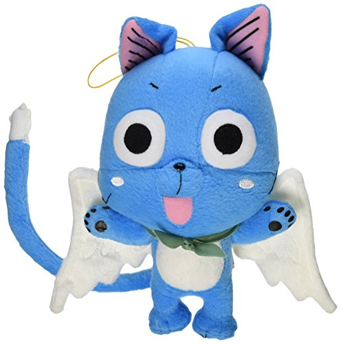 Great Eastern GE-6968 Animation Official Fairy Tail Anime Happy 8' Plush