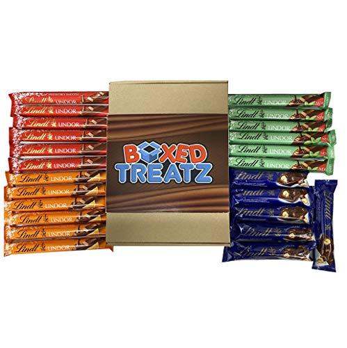 Caja de regalo de barras de chocolate Lindt, caja de 24 unidades, la caja de regalo de chocolate perfecta para todas las ocasiones por HTUK®