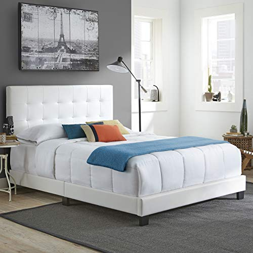 Boyd Sleep Murphy Upholstered Platform Bed Frame Mattress Foundation with Tufted Panel Headboard and...