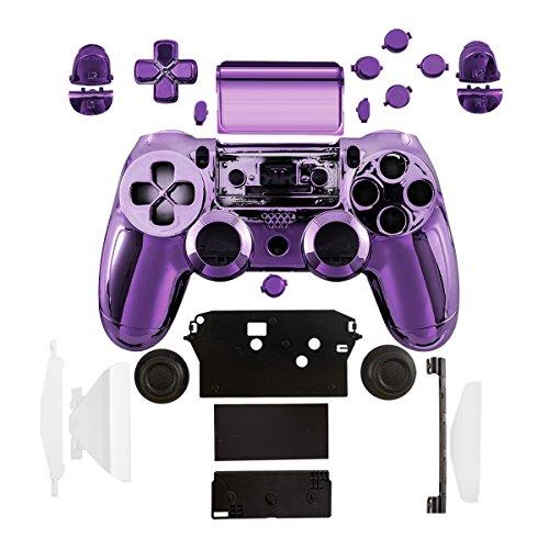 kwmobile Skin Coquille pour Manette et Touches de Console Compatible avec Playstation manette 4 (1ère gén.) - violet