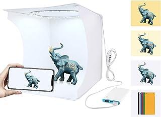 PULUZ Foldable Photo Studios Box Photographing Tent Light Box Mini Portable Folding Photography Lighting Kit with 6 Colors...