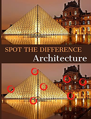 Spot the Difference: Architecture: A Hard Search and Find Books for Adults | Puzzle Books for...