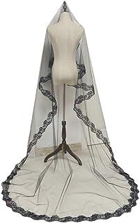 Beautiful crown Halloween Wedding Long Veil Cathedral Headdress da sposa, accessorio per sposa per abbigliamento costume d...