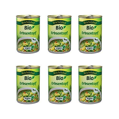 Reichenhof Bio Erbsen-Eintopf vegan, 6er Pack (6 x 400 g)