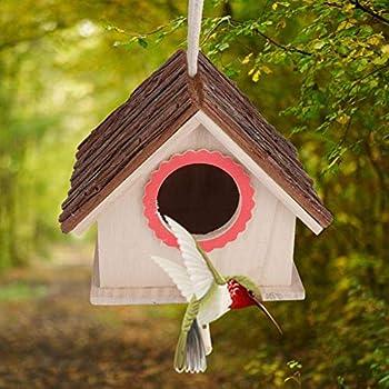 Pssopp Nid d'oiseau, nid en Forme de Maison en Bois pour perruches perruches perruches perruches élevage Dormir, 17,5 * 16 * 15 cm