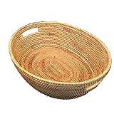 BGROEST-hm Cestas cestas de organización Creativa Elliptical Hand-Making Household Fruit Colección Cesta Escritorio Misceláneas Almacenamiento Cesta
