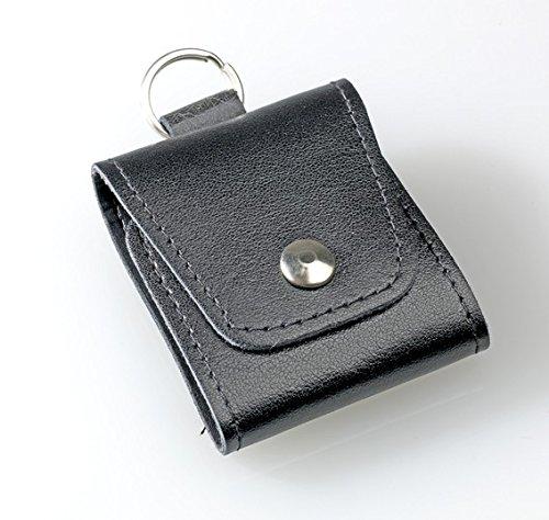 Taschenapotheke Notfalletui 4 Schlaufen/Gläser Leder schwarz mit Braungläsern (UV-Schutz) und Etiketten