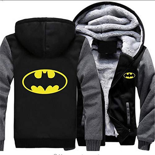 THICKEN Hoodie Daddy Batman Pullover Unisex Plus Samt Winter-mit Kapuze Zipjacke Tops D- 5XL