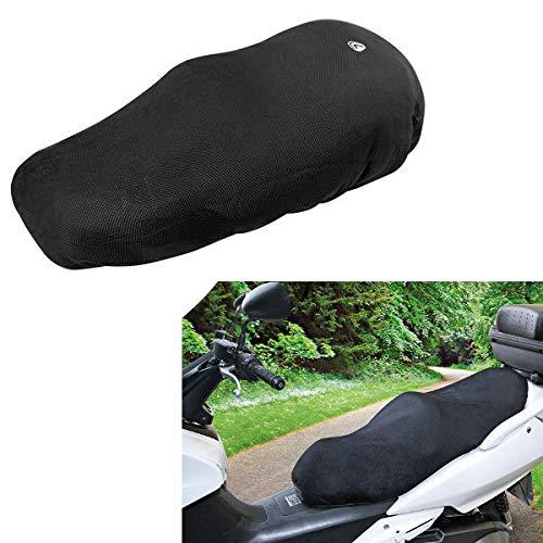 Funda para sillín 91432 Talla L Air Grip Lampa compatible con Yamaha Xenter 125 Scooter Moto Cubierta sillín negro antideslizante