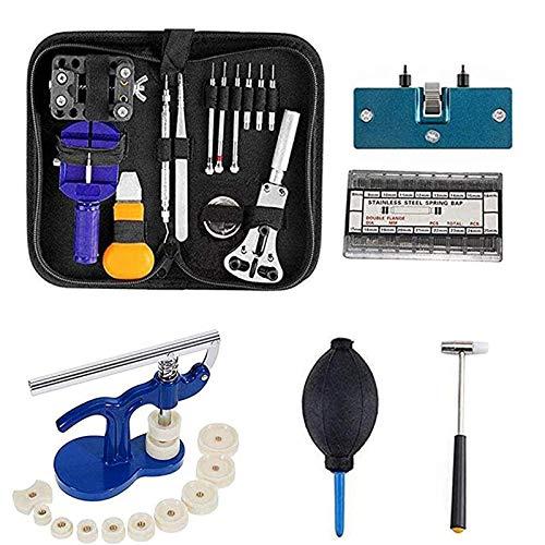 Uhrenwerkzeug Uhr Reparatur Werkzeug Set - 499 tlg Uhrmacherwerkzeug Gehäuseöffner Einpresswerkzeug Uhrenschließer (499Pcs)