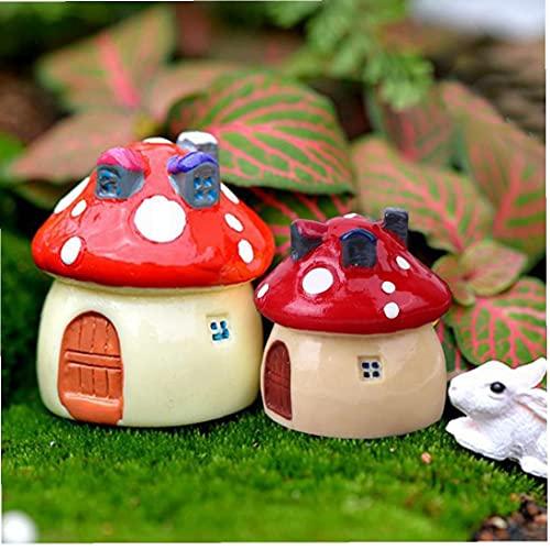 OMMO LEBEINDR Mushroom Landscape Decoration Mushroom Mini House 3.5 cm 2,5 cm 2 cm Paisaje Artificial Hada Garden Craft 3pcs