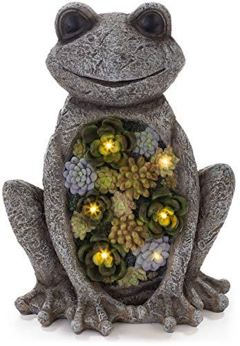 smiling frog solar powered light