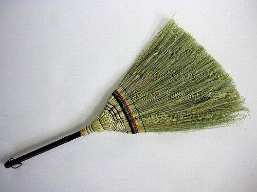 高級手編み座敷箒 短柄箒 日光No.1 昔ながらの座敷ほうき 草ホーキ ほーき 畳