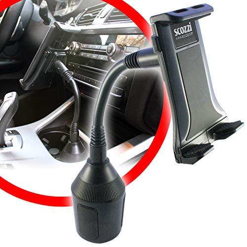 scozzi Universal Handyhalterung Auto Getränkehalter Schwanenhals Handy KFZ Halterung Halter (kompatibel mit Samsung,iPhone,Huawei) S21 S20 S10 S9 A71 A51 P40 P30 12 11 X XS XR Plus Mini Ultra Lite Pro