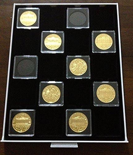 Fall Klar Quadratisch Box Münzen 50 x50  für ein Typ cajoen