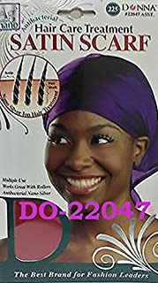 Donna Hair Care Treatment Satin Scarf One Size Black