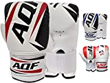 AQF Boxing Bag Mitts Gloves Heavy Punch Speed Bag MMA Punching Mitts Kickboxing Sparring Muay Thai Martial Arts (Black)