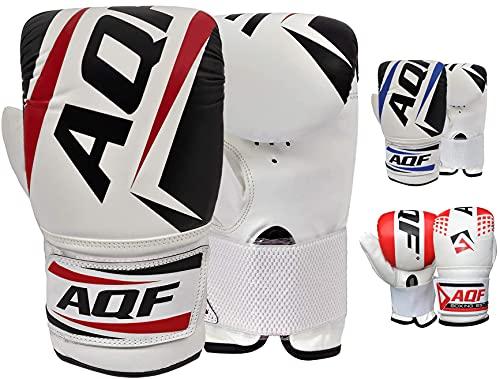 AQF Boxhandschuhe Sparring Training Kickboxen Boxsack Handschuhe Muay Thai Sandsackhandschuhe Punchinghandschuhe (Schwarz)