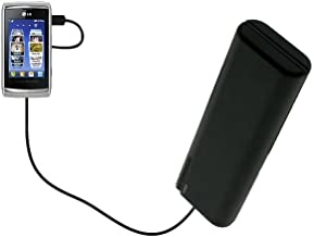 Gomadic Portable AA Battery Pack designed for the LG GC900 Viewty Smart - Powered by 4 X AA Batteries to provide Emergency charge. Built using TipExchange Technology