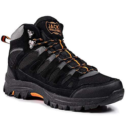 Jack Walker Herren Hike Wasserdicht Trekking Gehen Wanderstiefel Stiefel atmungsaktiv leicht JW9255 (44 EU)