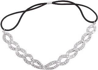 Merroyal Fashion Rhinestones Headband Crown For First Communion, Wedding, Pageant (Sliver)