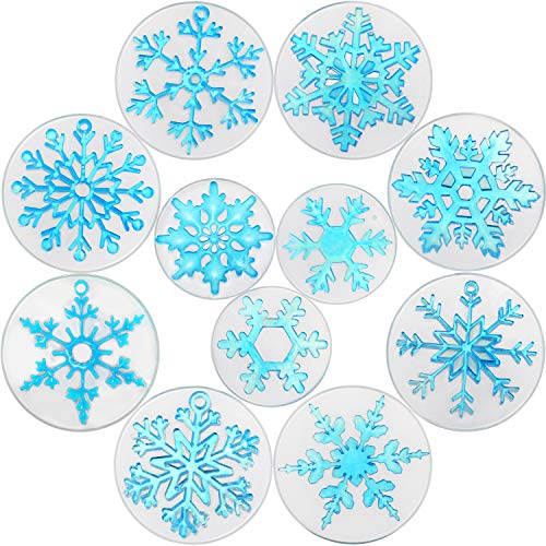11 Pieces Snowflake Resin Molds Snowflake Silicone Casting Molds Snowflake Casting Soap Mold for Epoxy Resin DIY Crafts Necklace Earrings Pendants Wedding Christmas Props Decorations