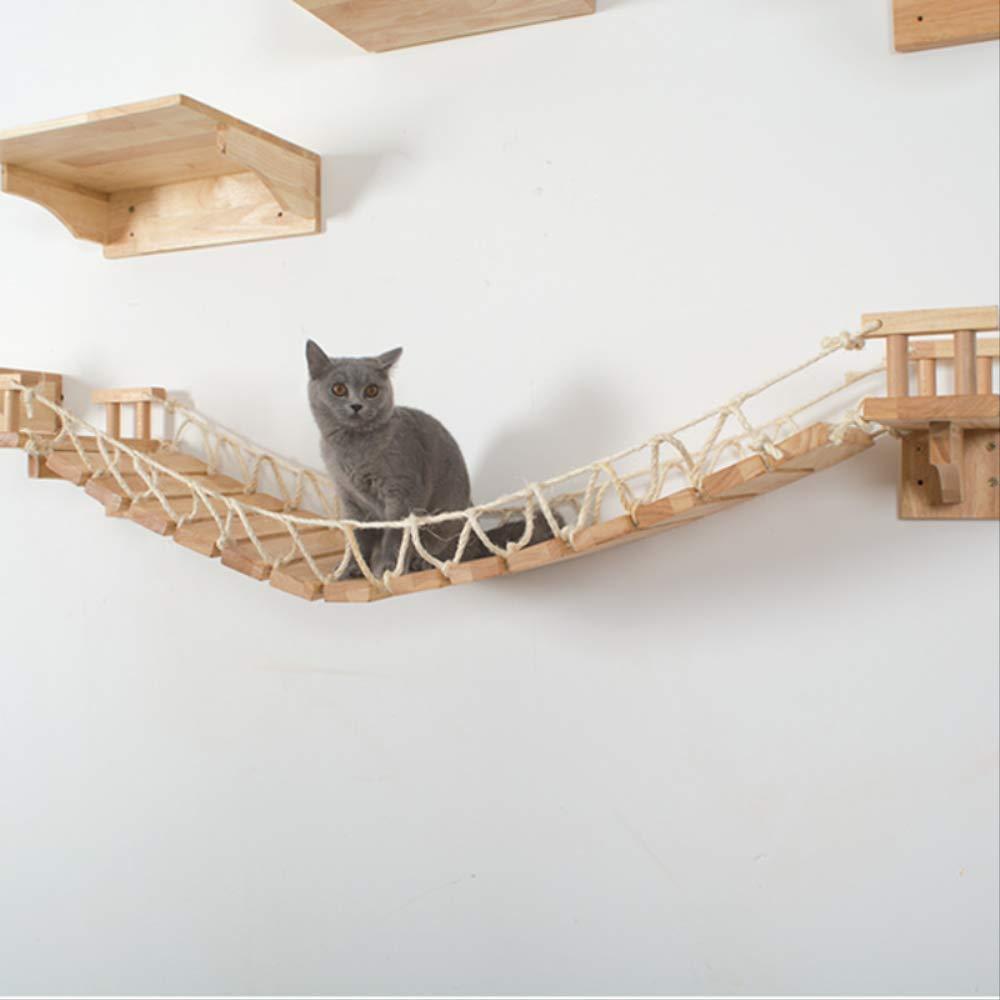 HMJ Gato Hamaca Gato Colgante de Pared Escalera de Madera Gato ...