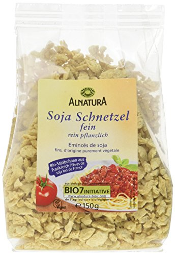 Alnatura Bio Feine Sojaschnetzel, 6er Pack (6 x 150 g)