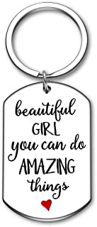Inspirational Gifts for Daughter from Mom Dad Motivational Keychain Beautiful Girl You Can Do Amazing Things Graduation Birthday Christmas Present for Teens Girl Friends Her Women