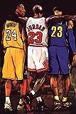 Kobe Bryant, Michael Jordan and Lebron James (Big Three) Sports/Basketball Poster - Measures 16 x 24 inches