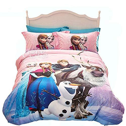 Evvaceo Child Bedding Set 3 Pieces Duvet Cover Cartoon Anime Character 220 Cm X 260 Cm Teens Boy Girl Bedroom Kindergarten Bedding Superfine Fiber Mattress Cover(Super King)