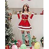 XYSDFZ Disfraz De Señorita Sexy De Navidad Vestido Rojo+Banda para El...