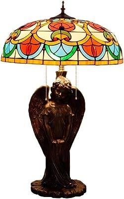 Lámpara De Mesa Estilo Tiffany Con Cadena De Extracción De 3 Luces ...