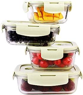 LINGLING Alimentation Rangement et organisation Services Verre de préparation de repas Conteneurs 3 compartiment - verre a...