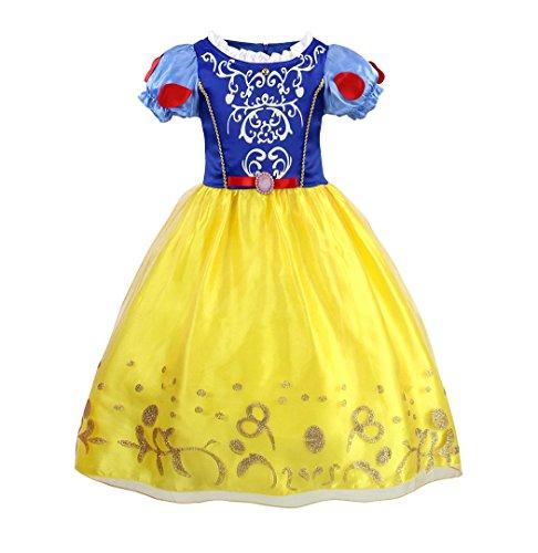 AmzBarley Disfraz Vestido Princesa Blancanieves Niña Tutu Ceremonia,Traje Niña,Disfraz Infantil Fiesta Carnaval Cosplay Halloween 11-12 Años